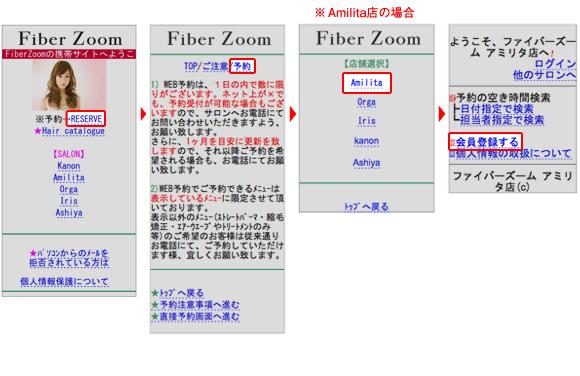 Fiber Zoom-モバイルサイト説明